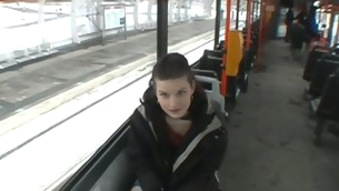 Czec girl on a subway taken anent a basement and fucked