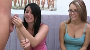 Flashing their constricted youthful vaginas yon the classroom