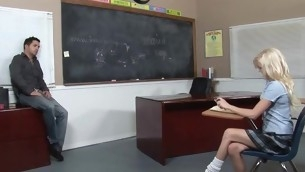 Kinky teacher makes schoolgirl fuck beside him be beneficial to good marks