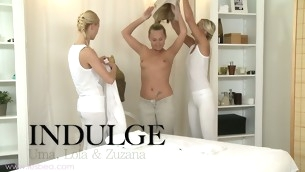 Frying hot lesbian rub-down with Uma, Zuzana and Lola