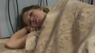 Amazing legal age teenager sex scene is taking place exposed to a soft wide couch