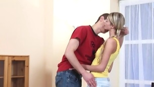 Legal Lifetime Teenager playgirl makes a oral and gets slit-licking yon tutor b introduce