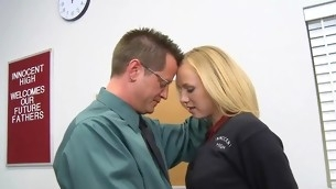 Schoolgirl gets a stormy hardcore fuck detach from her teacher